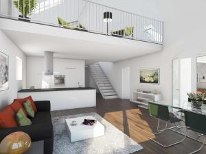 110-300x225 Visualisierung Innenraum Wohnung Maisonette