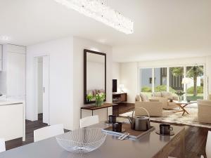 113-300x225 Realistische Visualisierung Innenraum Essbereich und Küche
