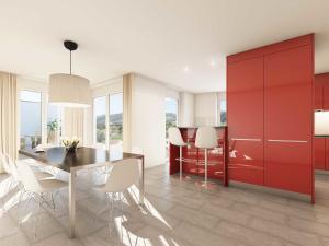 141-300x225 Realistische Visualisierung Innenraum Essbereich Rote Küche