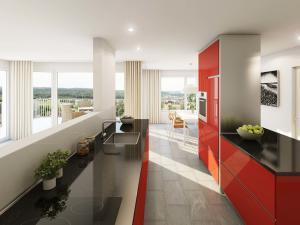 142-300x225 Realistische 3D-Visualisierung Innenraum Küche