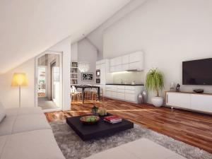 206-300x225 Architekturvisualisierung Innenbild Dachwohnung