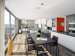 254-300x225 Visualisierung Innenansicht moderne Wohnung mit Küche