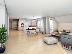 273-300x225 3D Visualisierung Innenansicht - Moderne Wohnung u. Küche