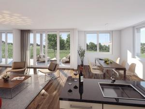 323-300x225 Visualisierung Innenansicht Wohnraum mit Küche 2