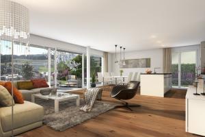 Aesch_5-300x200 Visualisierung Wohnung im EG - Neubau MFH in Aesch