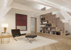 Bibliothek-Zimmer-Visualisierung-300x212 Bibliothek Zimmer - Innenraum Wohnung Visualisierung