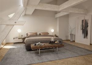 Schlafzimmer-Dachgeschoss-Visualisierung-300x212 Schlafzimmer im Dachgeschoss - 3D Visualisierung